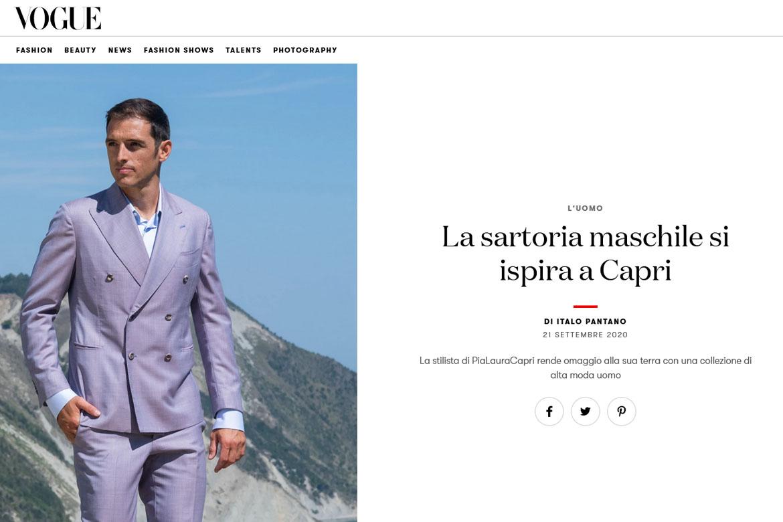 La sartoria maschile si ispira a Capri